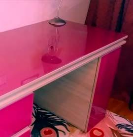 Прямоугольная накладка на стол Decosave Hard 1мм