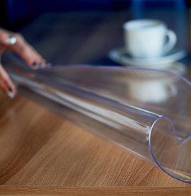 Мягкое стекло на стол купить в Москве