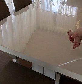 Белый прямоугольный стол с защитной пленкой Decosave Film