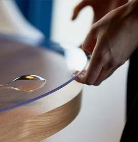 Жесткая круглая накладка на стол 3мм
